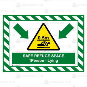 Safe Refuge Space - Lying - 1000mm x 700mm