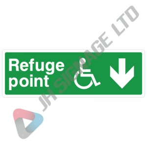 Disabled-Refuge-Point-Down-Arrow_300x100